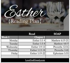 Week 1: Reading Plan for Esther: Bible Study by #LoveGodGreatly