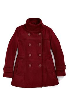 Sugarfly Double Breasted Coat (Big Girls) (Online Only) available at #Nordstrom