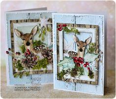 Create Christmas Cards, Christmas Tag, A Christmas Story, Handmade Christmas, Shabby Chic Xmas Cards, Scrapbook Cards, Scrapbooking, Wedding Cards Handmade, Santa And Reindeer