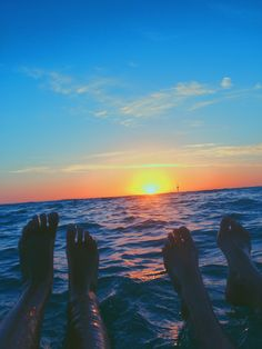 you&me watching the sunset w/ our feet in the water