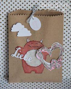 Yummy in my Tummy Monster Stempelset Stampin' Up! Grüße voller Sonnenschein Valentin Geschenküten Sandfarben Schnelle Überraschung #yummyinmytummy #monster KreativStanz http://kreativstanz.bastelblogs.de/