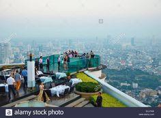 Thailand, Bangkok, Sirocco bar (Sky Bar) from Lebua hotel Stock Photo