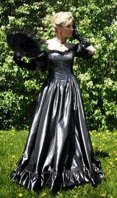 Black Latex Wedding Dress