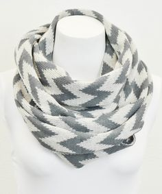 Gray Zigzag Infinity Scarf | Daily deals, Leto Collection,  chevron scarf, zigzag, awesome scarf, winter scarf, pretty