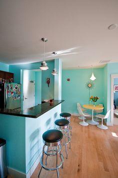 Jen & Eric's Retro Modern Condo — House Tour   Apartment Therapy