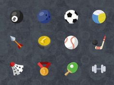 12 Flat sport icons by Stafie Anatolie