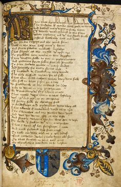 Page from Caxton's Canterbury Tales. On the 17 April 1397, Geoffrey Chaucer told the Canterbury Tales for the first time at the court of Richard II.