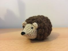 mini crochet hedgehog