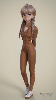 20 Realistic Blender Models and Character Designs by Ukraine Character Artist Nazar Noschenko - blender model girl - Character Design Cartoon, 3d Model Character, Character Modeling, Character Drawing, Character Concept, Concept Art, Character Sheet, Girl Cartoon, Cartoon Art