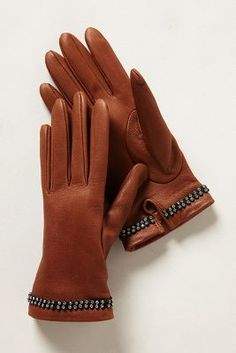 Wouldn't leave home without these anymore! Brrr ! Marzipan Leather Gloves @Anthropologie #gloves #wintergear #cold
