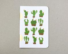 Cactus Notebook / carnet cactus / A5 / fabriqué à par HirundoShop