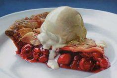 Realistic dessert paintings by Mary Ellen Johnson