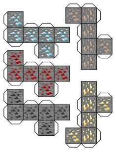 Now you can mine in real life and when i say mine i mean imagen ORES: Diamond Redstone Coal Iron BUTTER(Gold) Minecraft Ores Papercraft Minecraft Crafts, Minecraft Templates, Minecraft Images, Minecraft Anime, Minecraft Room, Hama Beads Minecraft, Minecraft Tutorial, Minecraft Pixel Art, Cool Minecraft