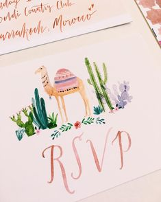 Moroccan wedding stationery by Rosie Harbottle