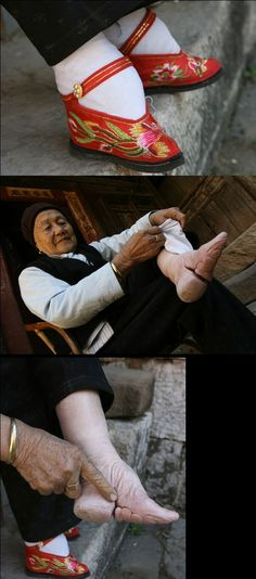 *well shit   chinese woman's bound feet - This really opens minds to see into other cultures....may seem extreme...but it is their way.