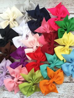 10 hair bows / 1.00 each / infant toddler/ by FallenStarCoutureInc, $10.00