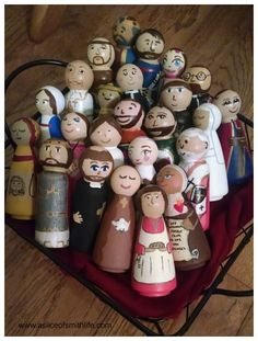 A Slice of Smith Life: My First Saint Peg Doll Exchange: What Fun!