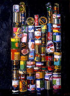 La Trace Gallery Paris 1992 series 'Gastronom' by Aleksandr Popov (b1951 In  Moscow ~ aka Kagorov ~ aka Rdnaskel Popov)