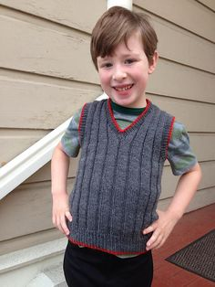 Ravelry: Boy's Sleeveless Sweater pattern by Hilde Fuchs