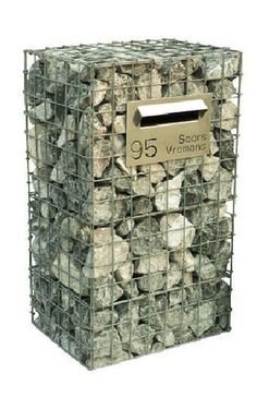 Gabion wall ideas, with FREE how-to guides, videos, pictures and advice to help inspire your gabion wall project Gabion Fence, Gabion Wall, Fencing, Gabion Baskets, Modern Mailbox, Stone Fence, Landscaping With Rocks, House Numbers, Landscape Design