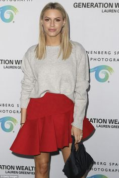 Rich Kids Of Beverly Hill's Morgan Stewart looked leggy and lovely while attending an art opening in LA on Thursday