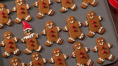Christmas tree shaped treats made with Betty Crocker® gingerbread cookie mix are covered in Betty Crocker® Rich & Creamy frosting and decorated with colorful sprinkles. These beautiful cookies make a great dessert - perfect for a crowd.