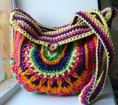 Ganchillo patrón de crochet patrón de la bolsa de color crochet por LuzPatterns