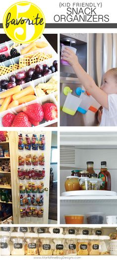 I have learned to avoid the kitchen whirlwind of activity with kids coming, going and making a mess by organizing the fridge and pantry with these easy kid snack DIY organizer ideas. Easy Snacks For Kids, Easy Diys For Kids, Diy Snacks, Kids Meals, Diy Organizer, Organizers, Pantry Organization, Organizing Ideas, Organising