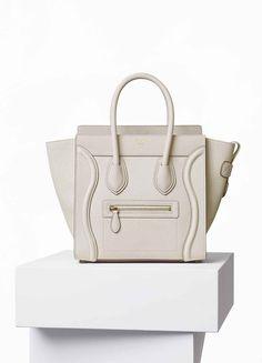 Micro Luggage Handbag in Goatskin - Céline
