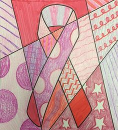 Use these breast cancer awareness ribbon coloring sheets to help