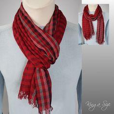 Herren Schal * Loopschal men's scarf Herrenschal - Leichte Schal - rot - SD