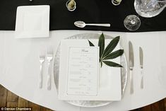 The perfect plate: Many of the ideas included ways in which marijuana could be incorporated in a decorative sense, including as a fun table decoration