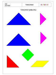 ÇOCUKLAR İÇİN TANGRAM-OKUL ÖNCESİ HERŞEY Cut And Paste, Learning Through Play, Education, Maths, Montessori, 2d, Puzzle, Google, Preschool