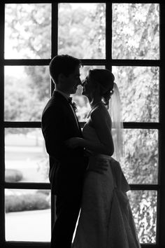 bride and groom black and white silhouette   Kansas City wedding photographer   www.anthem-photo.com