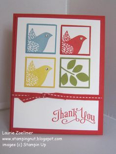 Laurie's Stampin' Spot: Betsy's Blossoms Thank You
