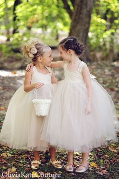 Champagne Flower Girl Dress by OliviaKateCouture on Etsy, $124.95