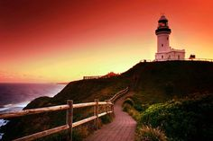 Photography: Lighthouse Pictures, Pictures of Lighthouses Beautiful Places, Beautiful Pictures, Beautiful Scenery, Beautiful Sunset, Places To See, Places Ive Been, Byron Bay Beach, Lighthouse Pictures, Famous Beaches