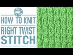 How to Knit the Right Twist Stitch - YouTube
