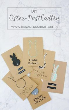 DIY 3 ideas for DIY greeting cards for Easter - Nähen DIY - Meine Anleitungen - Here you will find instructions for beautiful simple DIY greeting cards for Easter. Crafts For Teens To Make, Diy For Teens, Diy For Kids, Diy And Crafts, Summer Crafts, Kid Crafts, Iron Beads, Upcycled Crafts, Easter Crafts