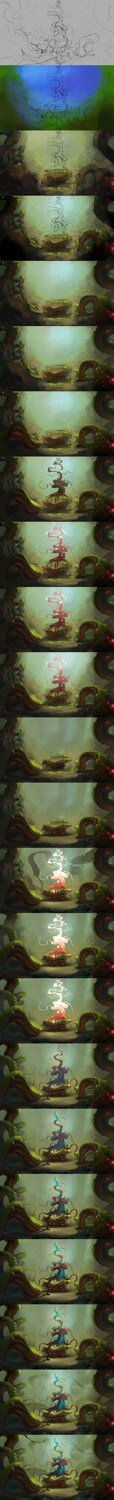 First tree PROCESS by Sergey-Lesiuk.deviantart.com on @DeviantArt