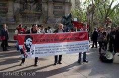 150 people took part in demanding freedom for Georges Abdallah in Paris 9 May(7)