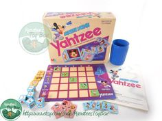 Disney board games mickey mouse 64 new ideas Disney Princess Facts, Disney Fun Facts, Minecraft Party Games, Yahtzee Game, School Carnival Games, Dinner Party Games, Childhood Toys, Childhood Memories, Vintage Mickey Mouse