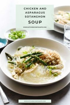Turn to this comforting Filipino Chicken and Asparagus Sotanghon (Glass Noodle) Soup. It warms you up and nourishes from within. #soup #filipinosoup #chickensoup #sotanghon #dinner #delicious | kitchenconfidante.com @kitchconfidante