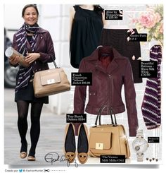 "Pippa Middleton look | May 31, 2013 (II) JACKET: ""Athena"" by French Connection. £95.00 FALDA: Sandro 135 € ZAPATOS: ""Dakota"" Loafers by Tory Burch $275.00 SCARF: Beautiful Bottoms London - Wave Silk Wrap £76.00 BOLSO: ""The Vienna"" by Milli Millu €561"