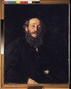 Bild:  Ilja Jefimowitsch Repin - Porträt des Malers Nikolai Ge (1831-1894)