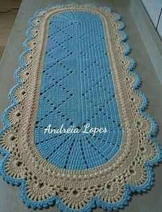 Diy Crafts - Crochet,Free-A Beaut Oval Rug [Free Crochet Pattern and Video Tutorial] A Beaut Oval Rug [Free Crochet Pattern and Video Tutorial] Crochet Mat, Crochet Carpet, Crochet Doily Patterns, Crochet Round, Baby Blanket Crochet, Crochet Doilies, Free Crochet, Oval Rugs, Diy Crafts Crochet