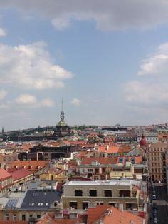 New Town Hall, nessa prédio gótico dá para ver a cidade de Praga do alto.