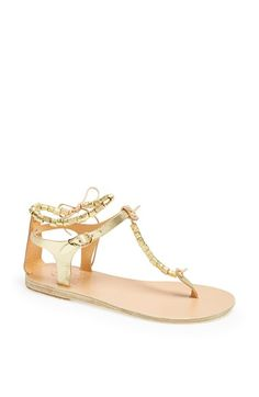 6321e9d82 Ancient Greek Sandals 'Chrysso' Beaded Thong Anklet Sandal available at # Nordstrom Making A