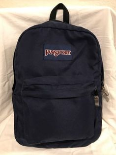 JanSport Blue Backpack on Mercari Mochila Jansport, Jansport Superbreak Backpack, Cute Backpacks, School Backpacks, Leather Backpacks, Leather Bags, Black Backpack School, Fashion Clothes, College Life