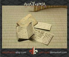 Japanese miniature dollhouse antique books | Flickr - Photo Sharing!